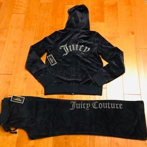 Juicy Couture studded logo hoodie & pant M